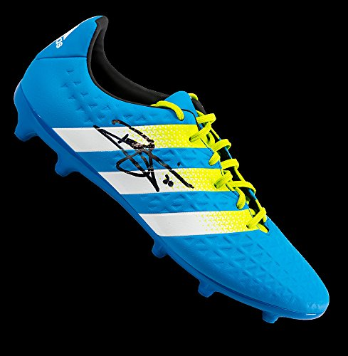 5f3904bf210 Get Quotations · Dele Alli Autographed Blue and Green Adidas X 16.3 Boot -  Certified Authentic Soccer Signature