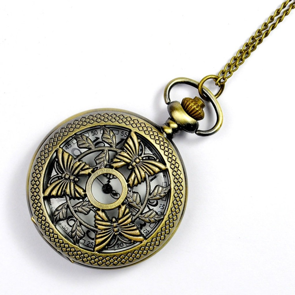 Salome Idea classical staly Mechanical Hand-wind pocket watch antiqued Bronze FOr men and women