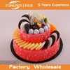 Hot sale wholesale HIgh quality customized fake birthday cake model/Simulation fruit cake for birthday party gift