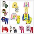 2016 new cotton baby girls sets kids pajamas pijama infantil for boys children s pyjamas children
