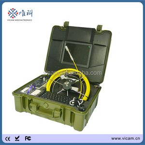 10'' monitor underwater sewer and drain repair waterproof camera with meter counting V10-3188KC