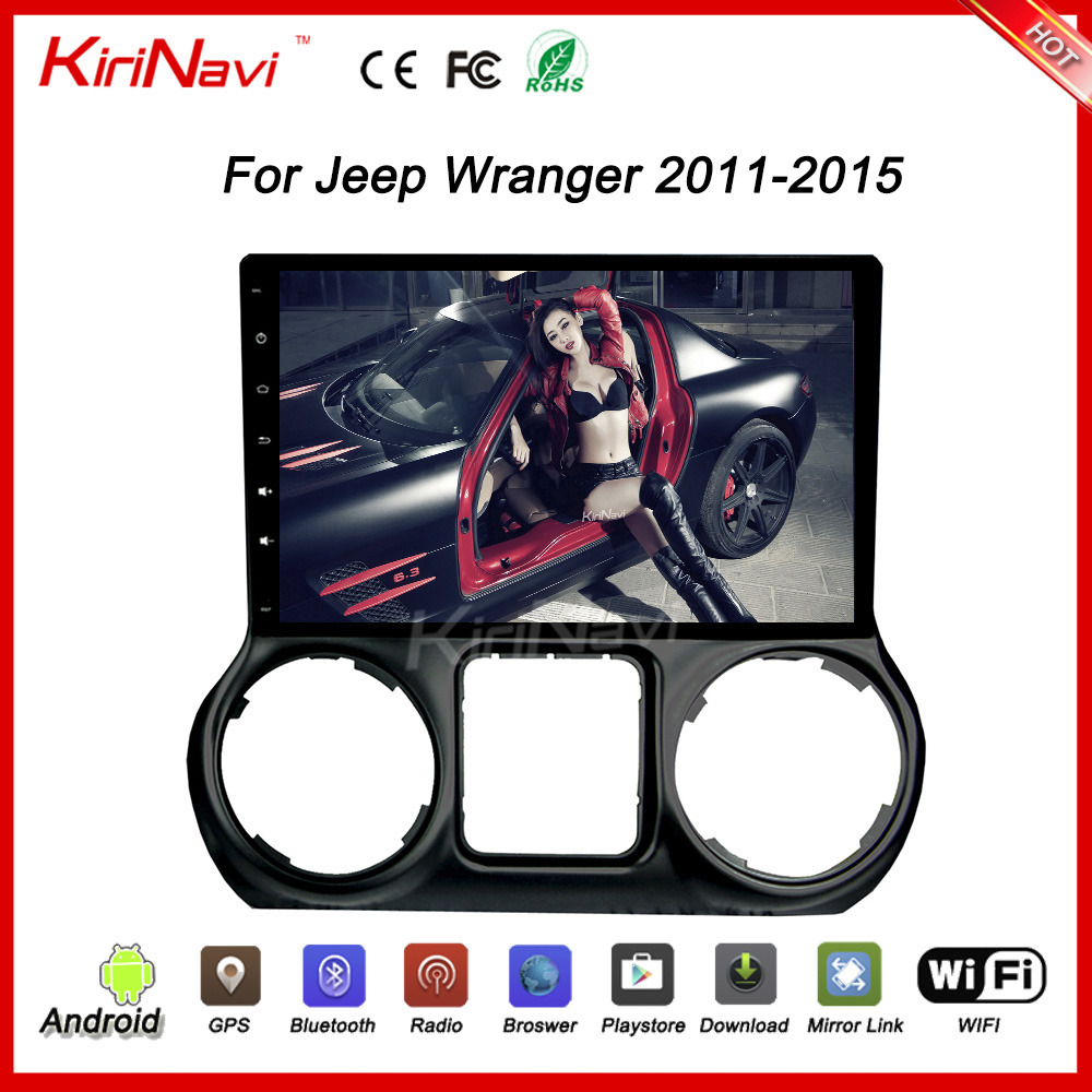 "KiriNavi WC-JC1025 10.2"" Android 6.0 car gps navigation system for jeep wrangler radio 2011 - 2015 wifi 3g playstore bluetooth"