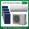 12000BTU 18000BTU off grid DC48V wall split American using solar home air conditioning units