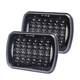 "5x7"" 7X6 Inch 27450C 72W LED Headlight High Low Beam Headlamp for Jeep Wrangler YJ"
