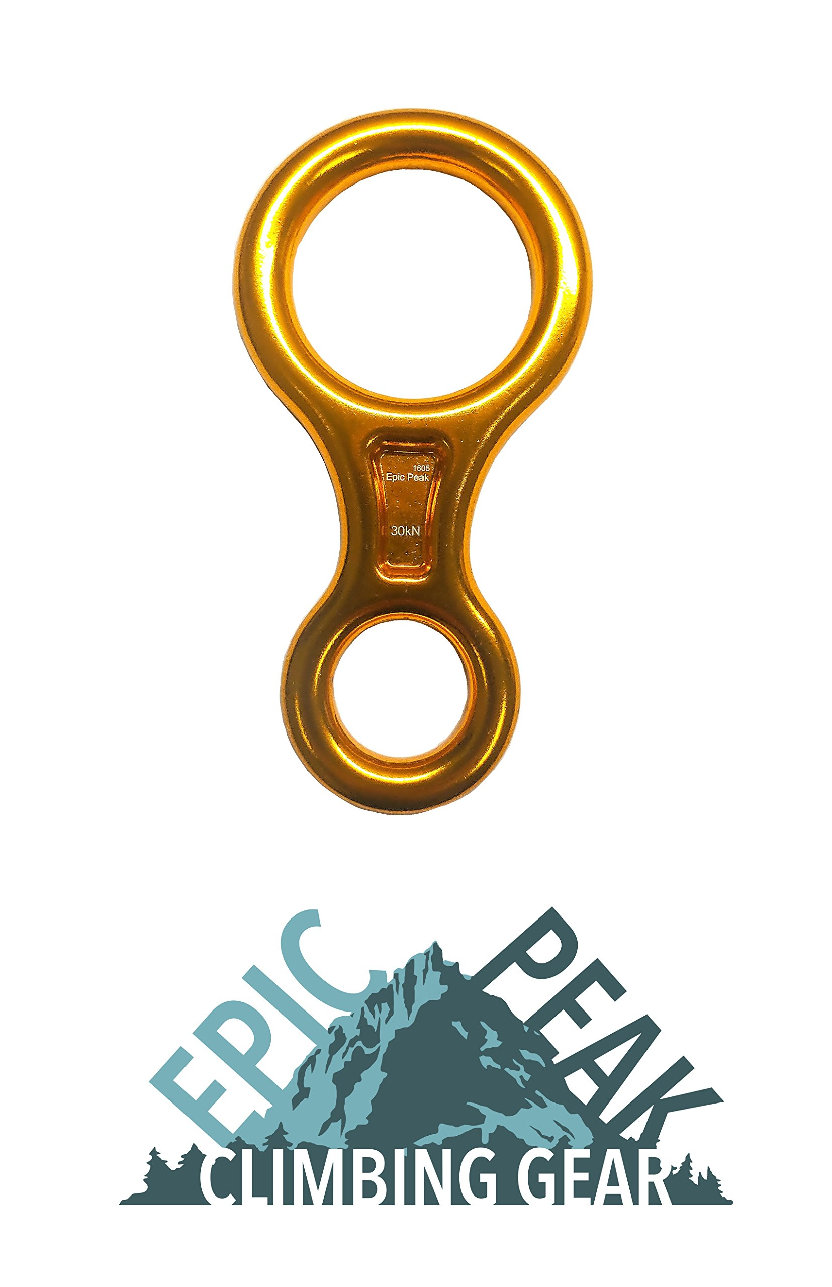 Epic Peak Large Figure 8 Belay Device Descender for Climbing with Free Decal