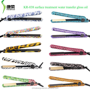 100% ceramic Surface treatment water transfer print hair straightener