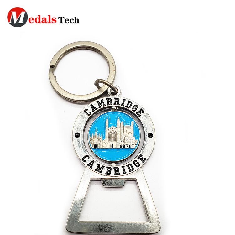 Wholesale custom shaped  silver beer bottle opener with epoxy sticker