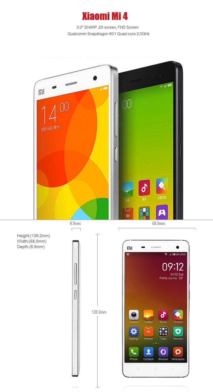 low price xiaomi mi 4 mi4 xiami buy direct 2gb ram 16gb