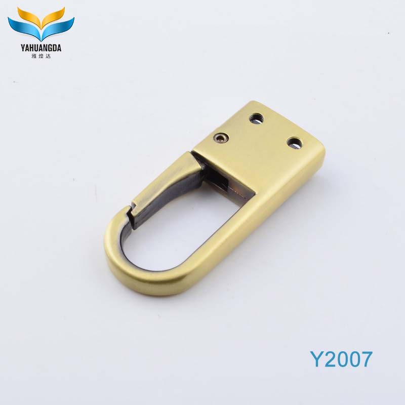 Customize metal hanger hooks bag clasp for lanyard accessories