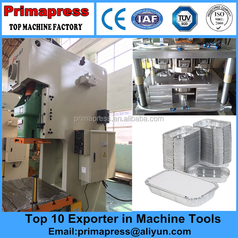 Good Price aluminum foil container making machine,Prima pneumatic punching machine for sale
