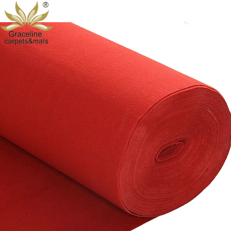 China supplier cinema home decor hotel exhibition nonwoven floor carpet in roll