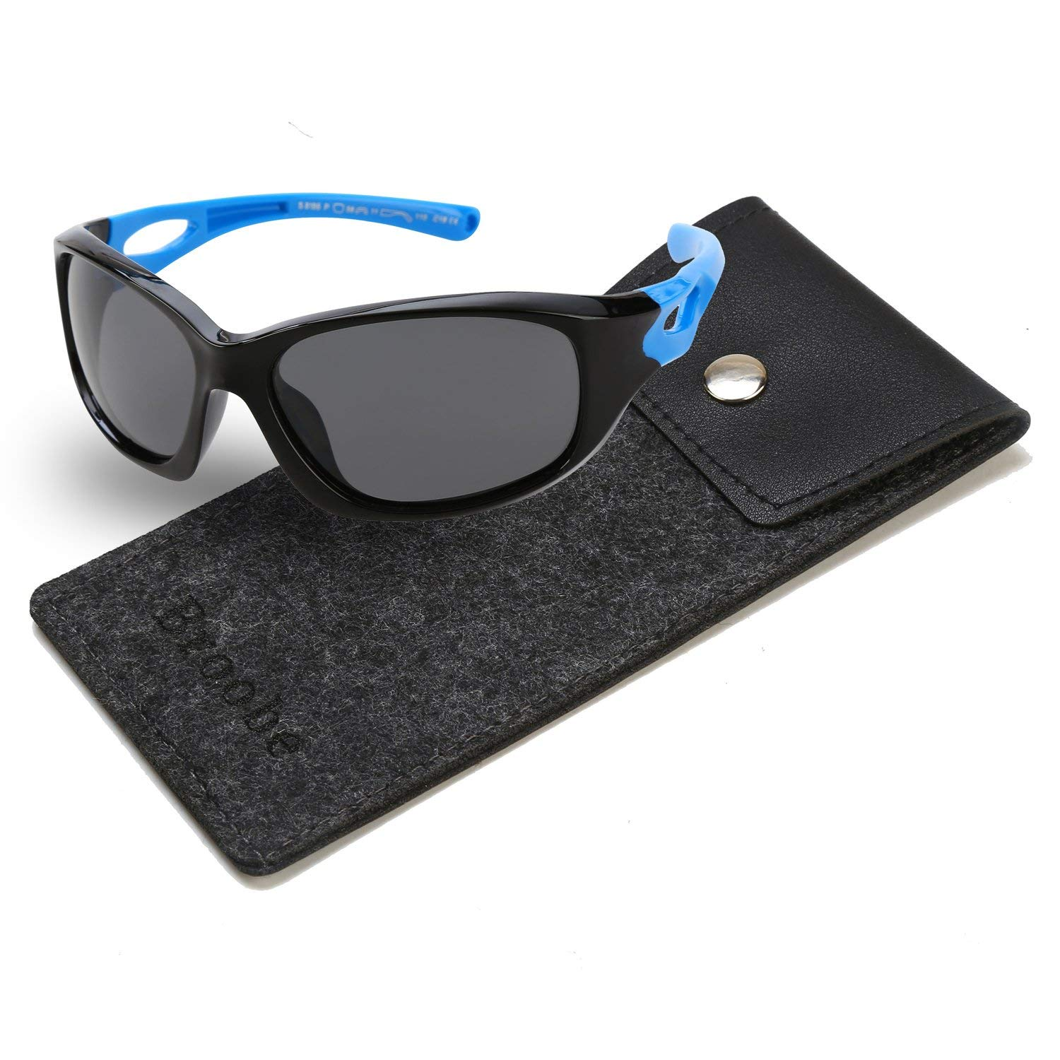 f3d946e4f0d0 Get Quotations · Brooben Kids Sports Style Polarized Sunglasses Rubber  Flexible Frame For Boys And Girls S8186