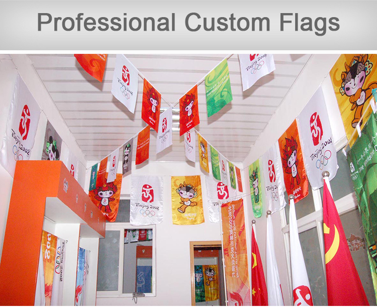 Custom wholesale cotton bunting flags