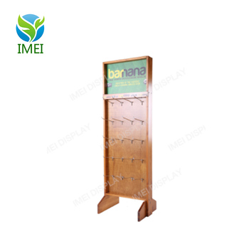 Beautiful design hanging wooden floor display stand