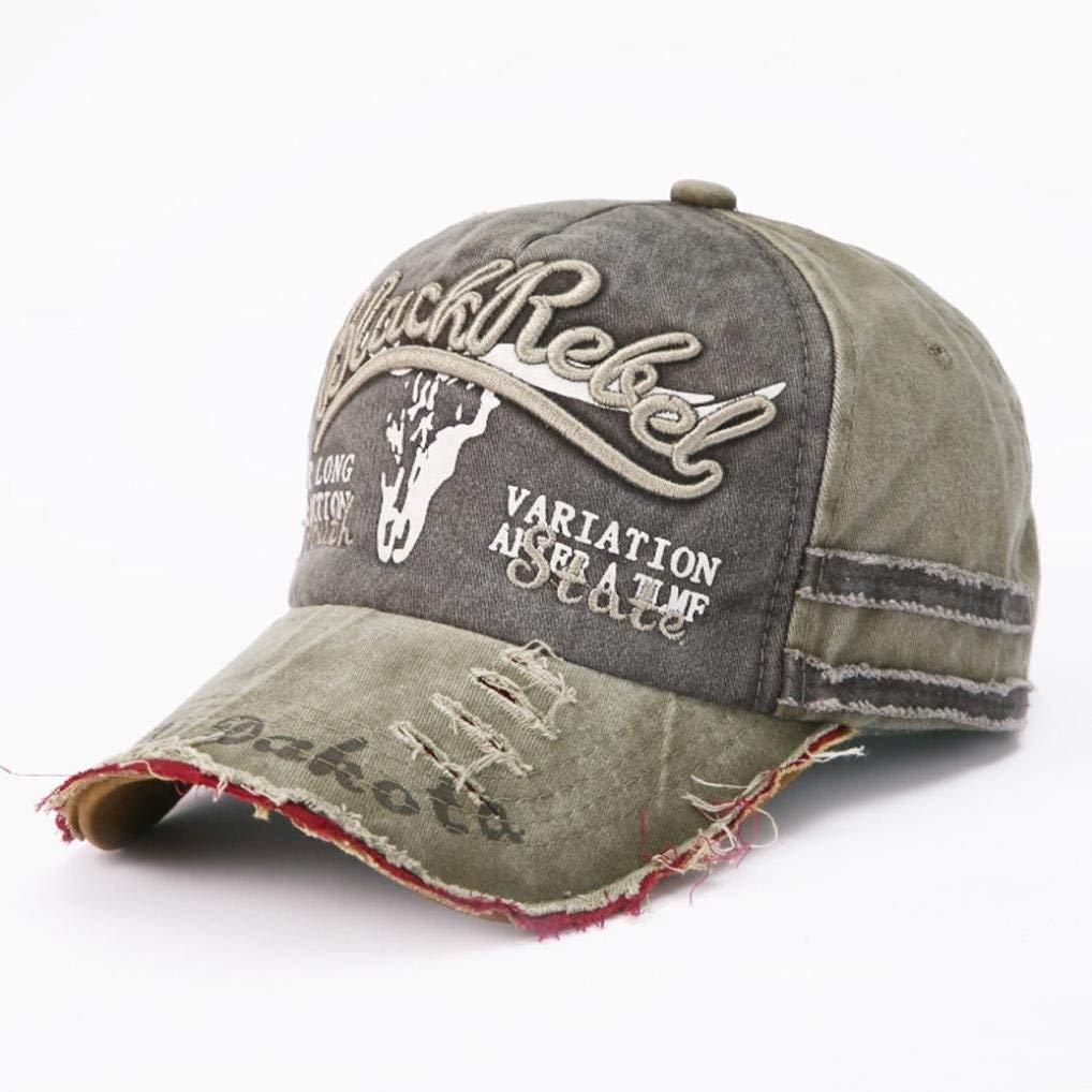897ecc4a92d Get Quotations · Besooly Punk Cap Baseball Retro Trucker Cap Snapback Rock  Hat Adjustable Sport Unisex Men Women