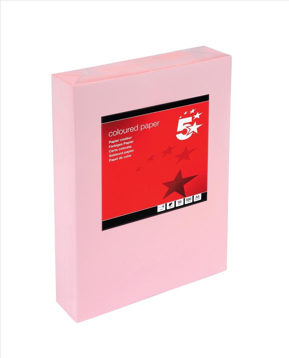 A4 Salmon Colour Coloured Card 160gsm Copier Cardmaking Ream Sheet 210mm x 297mm