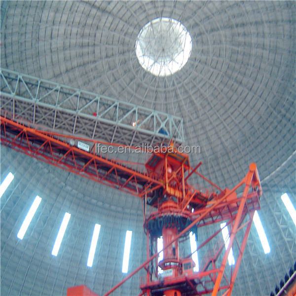 Steel structure dome projection for coal storage