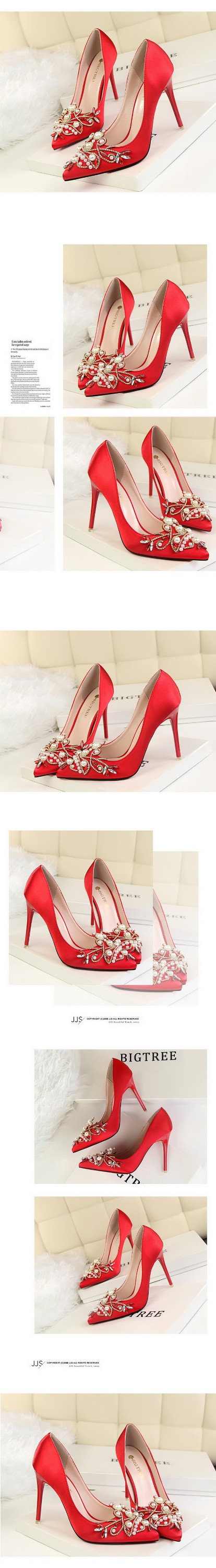 2017 new design heel shoes women red bottom shoes wholesale bridal shoes