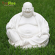 Religious White Marble Stone Laughing Buddha Statue