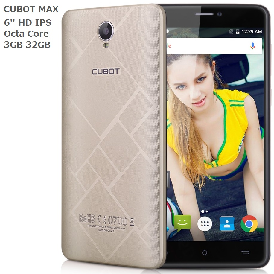 Cubot Max Phone 4G smartphone MTK6753 Octa Core Cell phone 3GB RAM 32GB ROM 13MP 4G LTE 4100mAh 6 Inch Screen Mobile Phone LTE