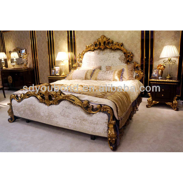 0063 2017 Italy Design Wooden Carving Royal Bedroom Furniture Expensive