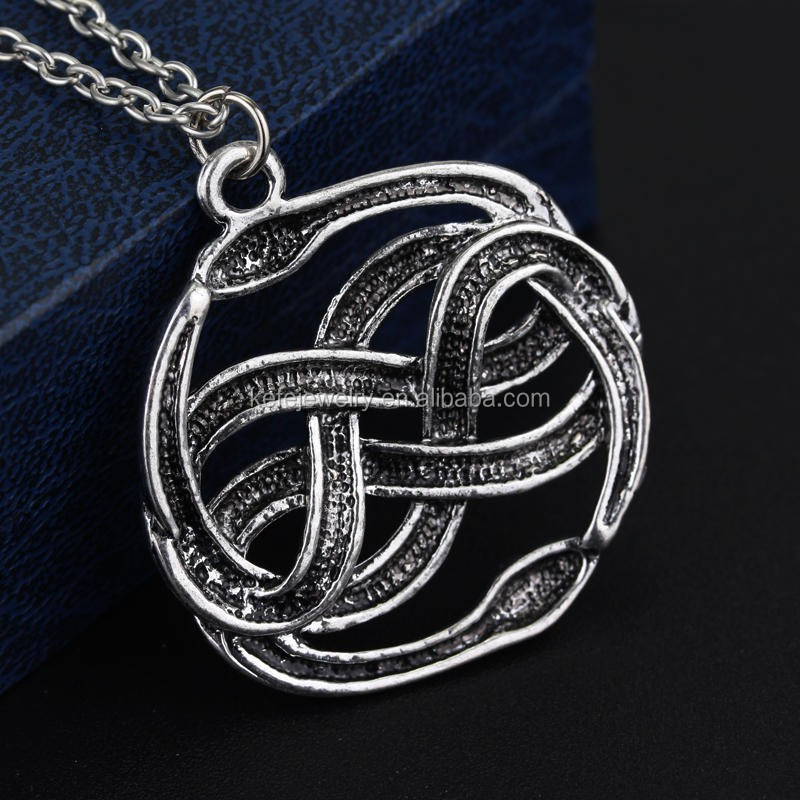The neverending story movie necklace double snakes silver loki film the neverending story movie necklace double snakes silver loki film pendant necklaces mozeypictures Choice Image