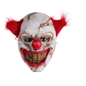 scary clown mask big nose cosplay full face horror masquerade adult party mask halloween props qmak