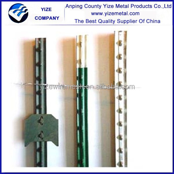 9352e576d18 American cheap8 ft 1.33 lb Studded T Post With White Top  cheap studded T  post