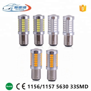 1156 BA15S P21W 1157 BAY15D P21/5W Sokcet led bulb 5630 5730 Chip 33 SMD Flashing Car Brake Light DC 12V Auto Reverse Lamp