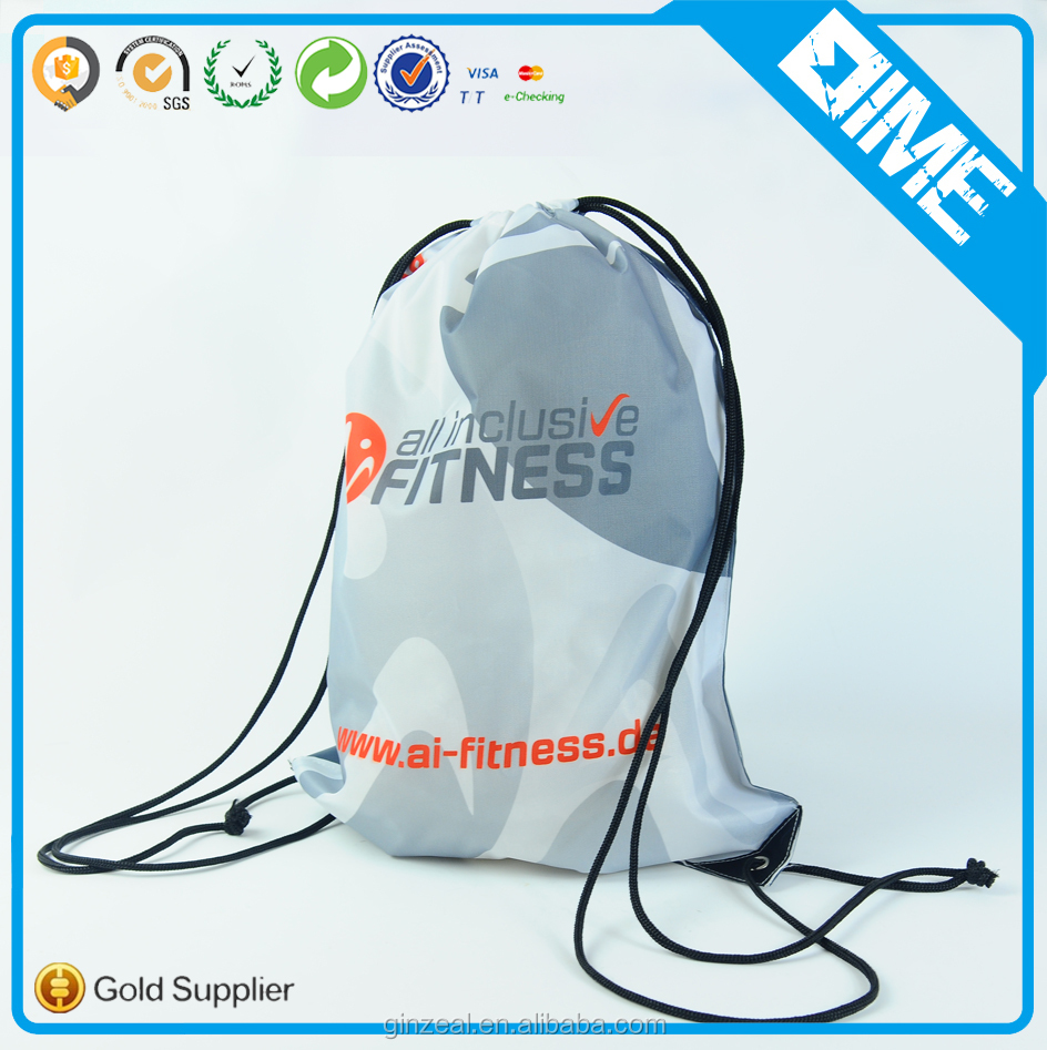 Promotional Polyester Drawstring Bag For Beach Swimming Pool