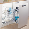 Metal Kitchen Cabinet Magic Corner Basket/ Wire Basket/Pull Out Organizer With Soft Closing( 900.940.900 )