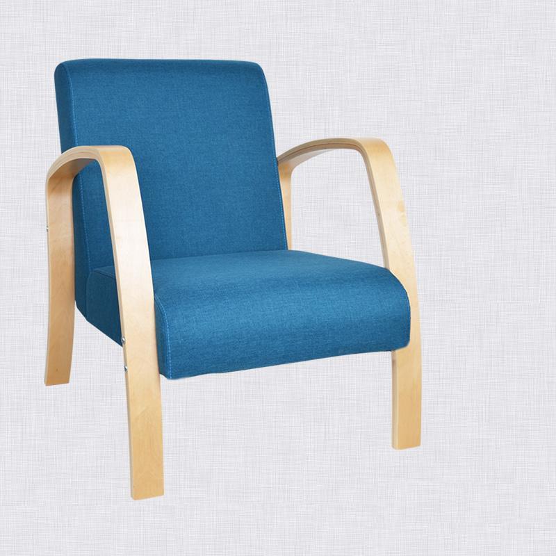 madera doblada silla silln de tela de algodn sof dormitorio sala de estar mobiliario
