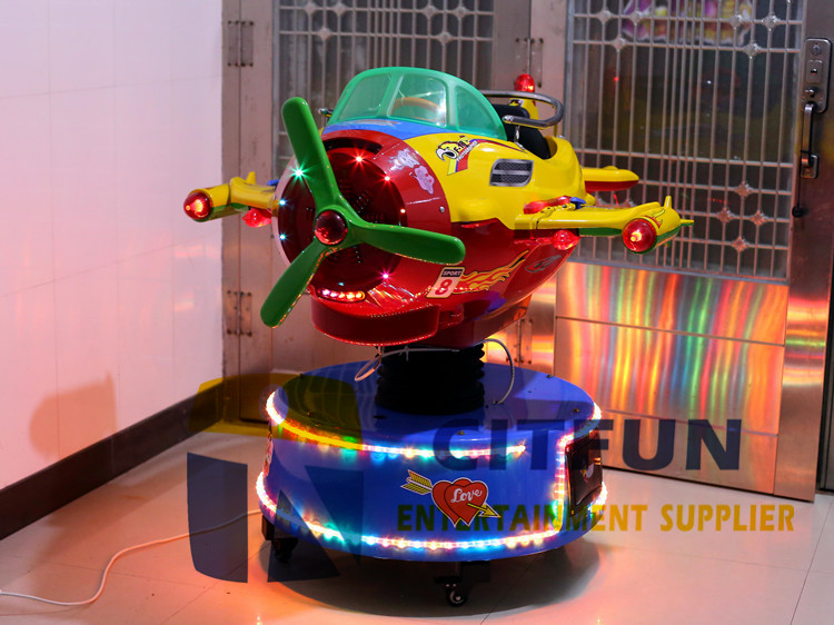 Coin operate up and down plane kiddie rides CIT-KR082