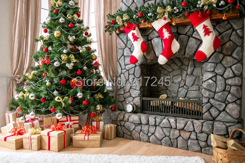 Thin Vinyl Photography Background Computer Printed: Thin Vinyl Photography Backdrop Christmas Custom Photo
