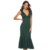 Women Green Dress V Neck Elegant Evening Party Slim Ruffles Sexy Dinner Backless Classy Ladies Slim Tunics Elegant Spring Robes
