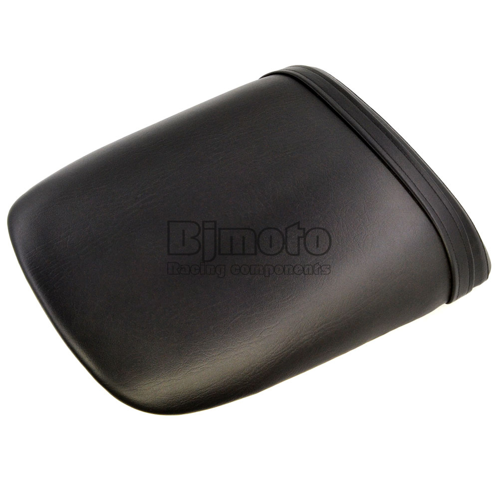Black Seat Cover For Honda CBR 900RR 929 2000 2001 Seat Vintage Leather Motorcycle Rear Passenger Seat Cushion Pillion