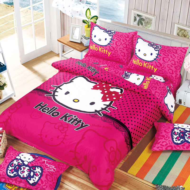0e9d6aff2 Wholesale Hello Kitty Bedding Set Children Cotton Bed Sets Hello ...