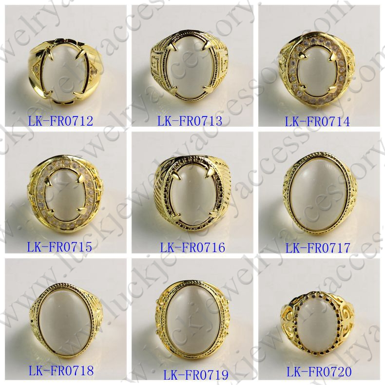 Vogue Jewelry Manufacturer Cheap Custom Fancy Big Stone Gold Ring