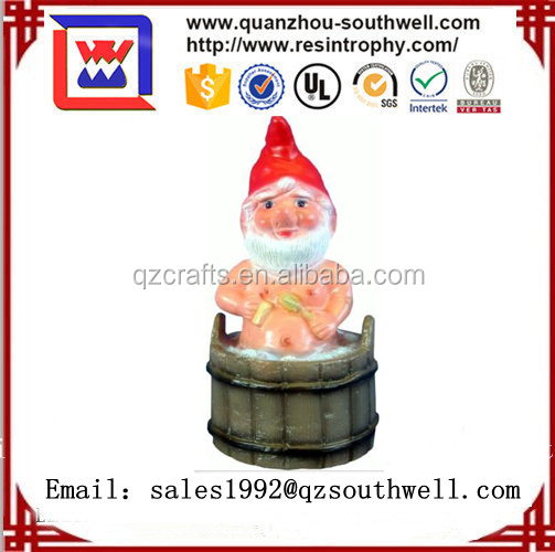 2017 Polyresin Unique Funny Custom Decorative Garden Gnomes for decoration