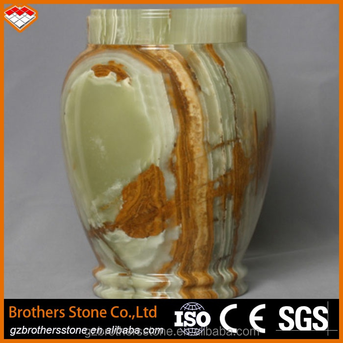 New Product Green Onyx Marble Slab Onyx Marble Stone Vase Onyx Handicraft