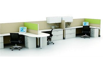 with wire management modular furniture office fabric panel system workstation