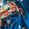 facroty supplier good quality printed silk satin fabric for kimono