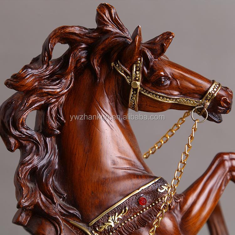 Benutzerdefinierte Form Handwerk Pferd Figuren Harz