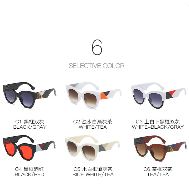 Customized logo different colors lenses anti-radiation wide frame crazy design young men and women attractive sunglasses
