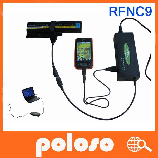 poloso RFNC9 for gateway laptop external battery charger & Universal adapter for notebook with USB charging Function