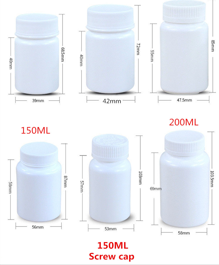 100ML Food Grade Empty Pharmaceuticals Capsule Medicine Container Packing Plastic Bottle With Screw Cap