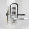 Mechanical Password Door Lock,Deadbolt Code Locks, Two turn Color Silvery with handle