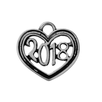 Zinc Based Alloy Charms Heart Antique Silver Message ""