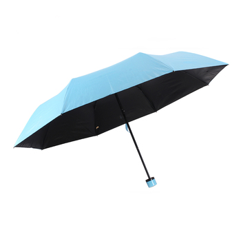 Promotional pure color 3 fold custom umbrella with logo print