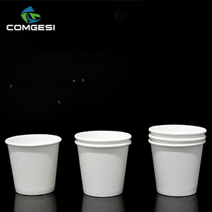 Wholesale Recyclable Cheap Custom Branded Logo Printed 8oz Disposable Coffee Tea Soup Paper Cups Fans Sleeves